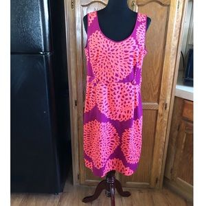 Boden Coral and Magenta Sheath Dress Size 12